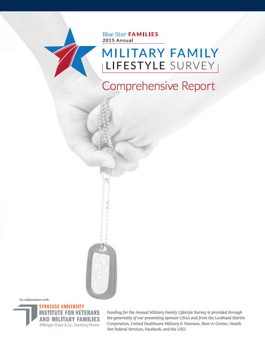 2015 Military Family Lifestyle Survey Cover