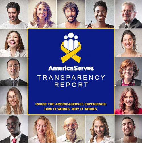 AmericaServes Transparency Report Cover