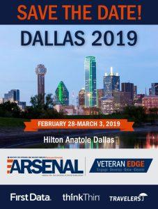 Banner stating: Veteran Edge Dallas 2019 from Feb 18 to March 3 at Hilton Anatole Dallas