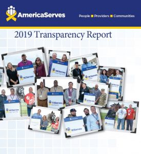 AmericaServes 2019 Transparency Report Cover