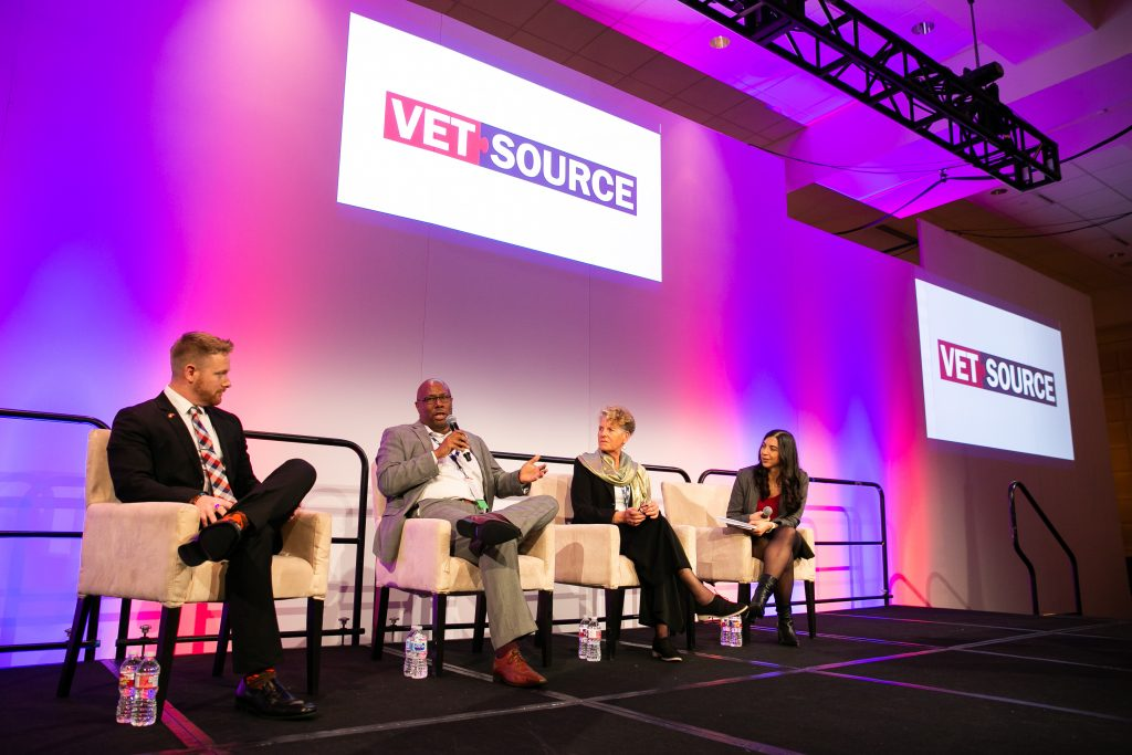 A panel of experts speaking at Vet Source.