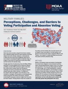 Cover of Military Families: Perceptions, Challenges, and Barriers to Voting Participation and Absentee Voting