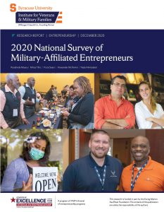 Cover of 2020 National Survey of Military-Affiliated Entrepreneurs