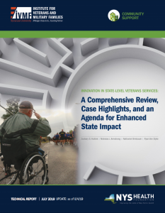 cover of Innovation in state-level veterans services report.